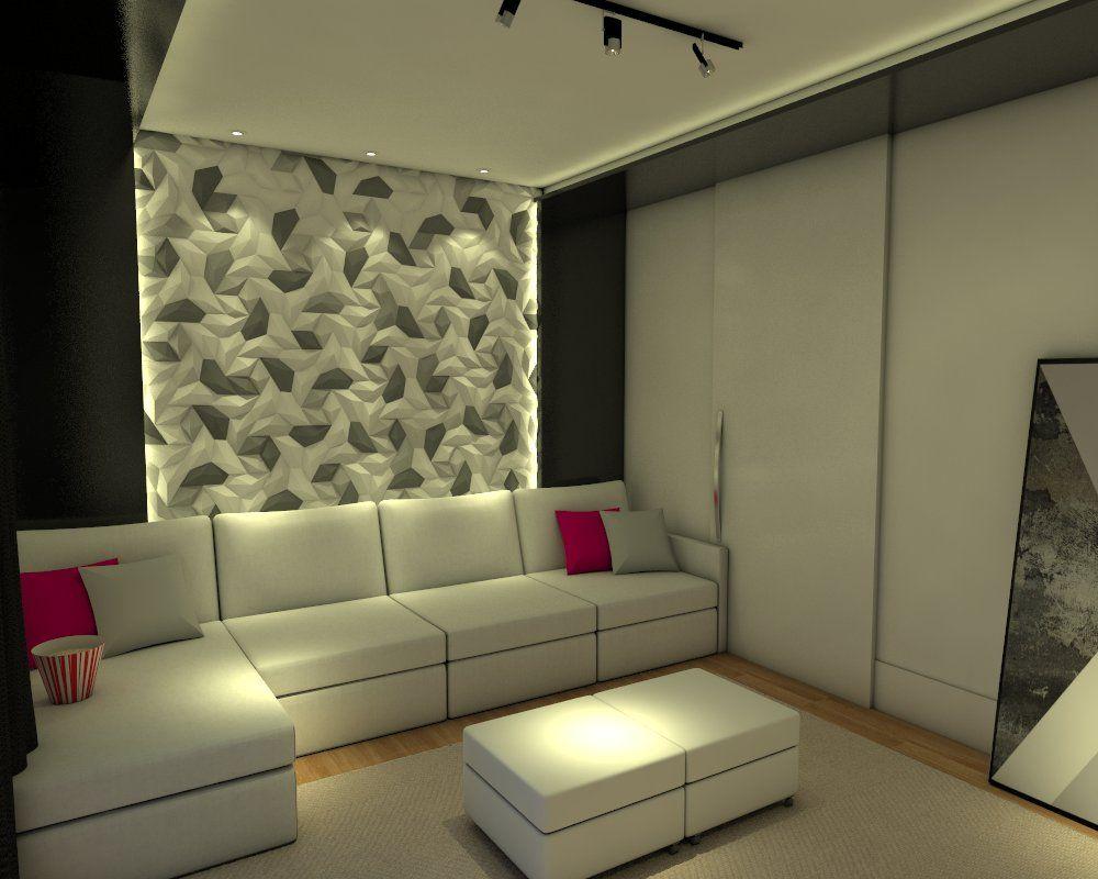 Sala de estar sala de estar moderna galer a de fotos for Paredes de salas modernas