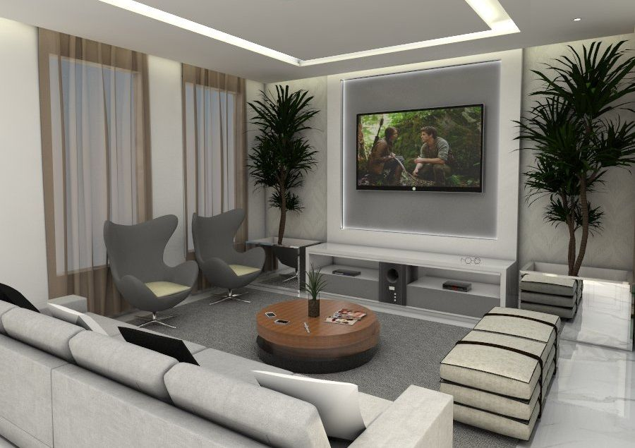 Decorao de sala moderna de jantarsala de jantar moderna for Sala de estar modernos