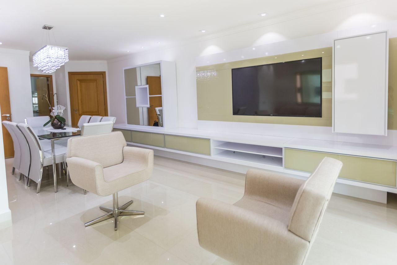 Sala De Estar Neutra Integrada Com Jantar De Scopo Design Moveis