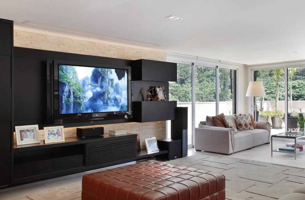 Sala De Tv Com Home Theater ~ 30 fotos de painel para tv que deixam qualquer sala linda