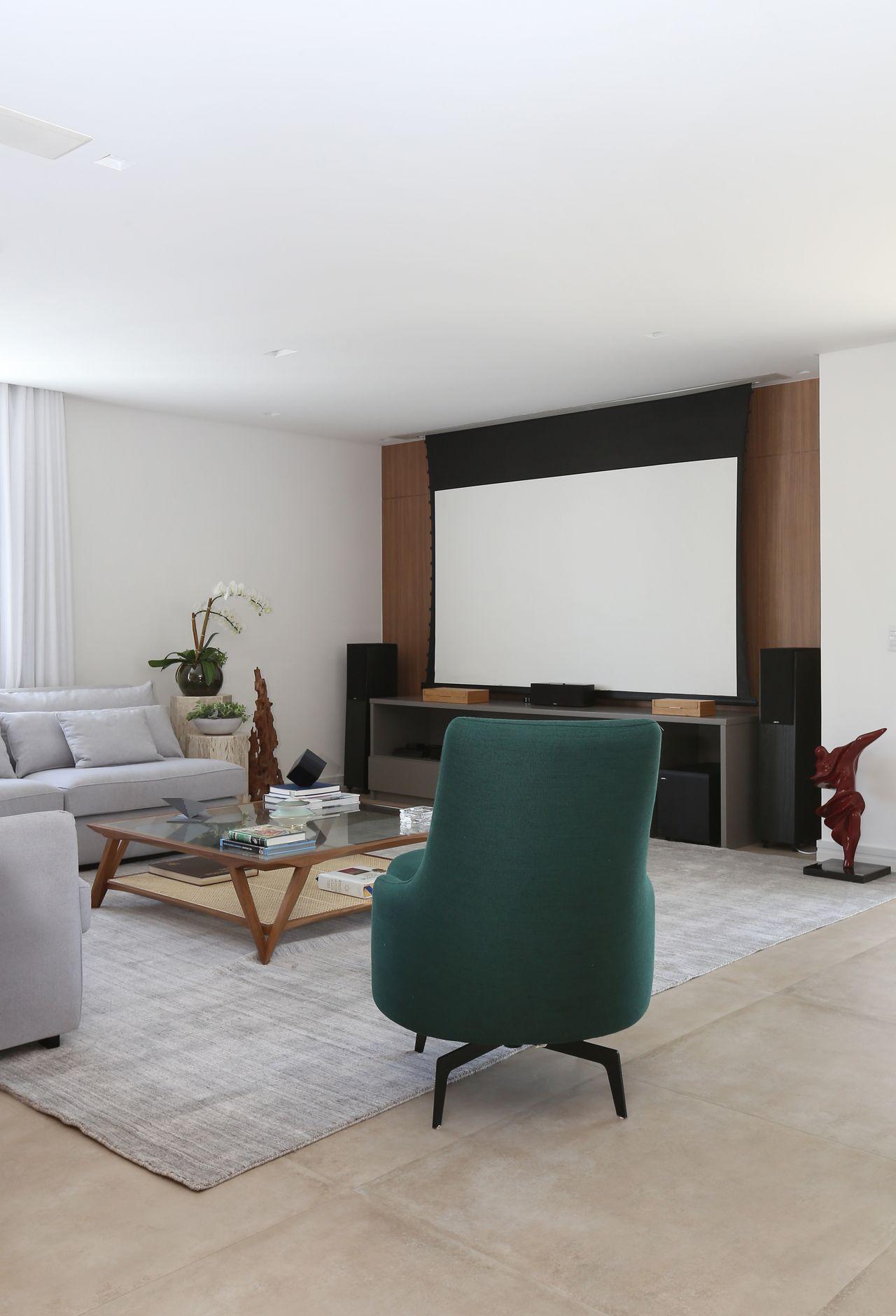 Poltrona Verde E Tapete Cinza De Start Arquitetura 166754 No Viva
