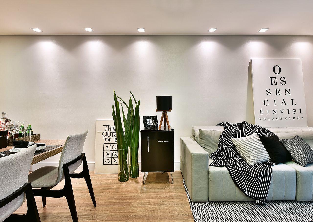 Sala Clean Simples Construindo Minha Casa Clean Dvida De Decorao  -> Sala Simples Clean