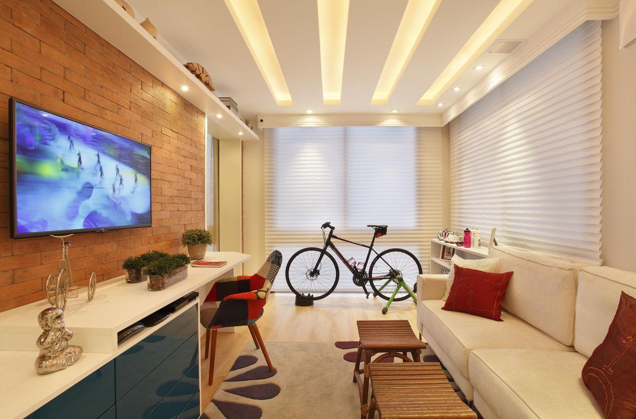 Como Decorar Sala De Tv Do Jeito Certo Para A Sua Casa -> Sala De Tv Com Duas Janelas