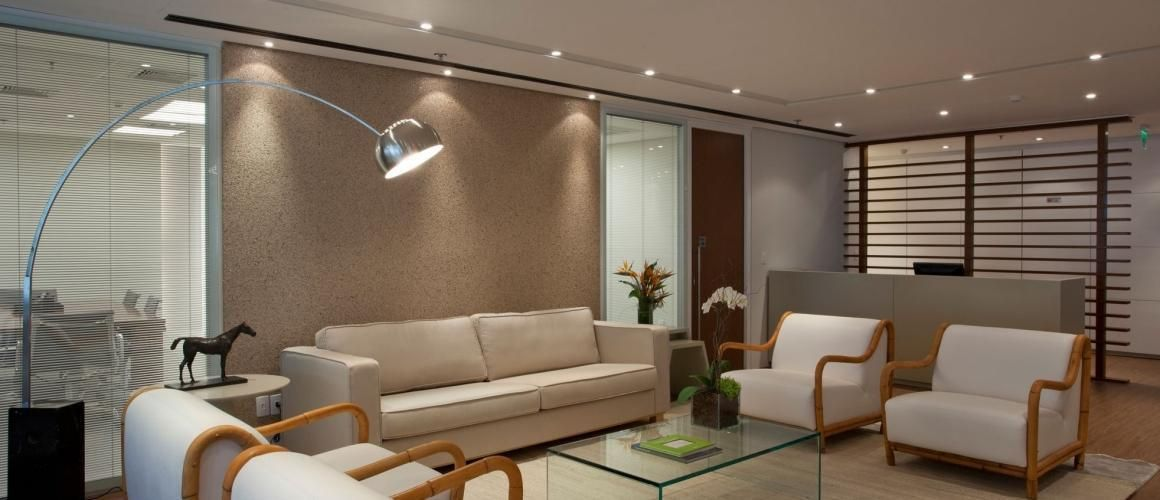 Muito Sala de espera com mesa de Centro de Vidro de Trio Arquitetura  ON28