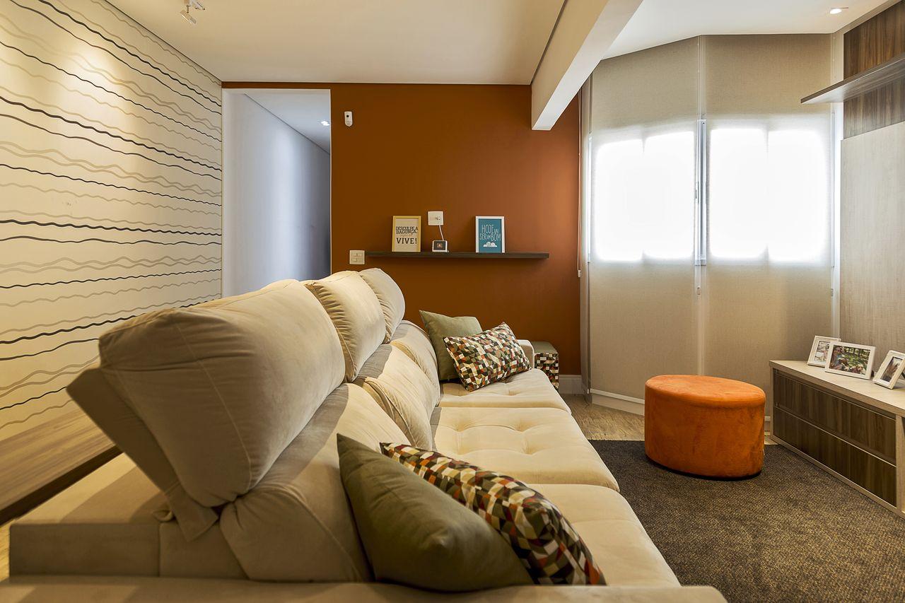 Pintura Em Parede Sala Blanco Y Esmalte Marron Oscuro O Chocolate  -> Pinturas De Sala Pequena