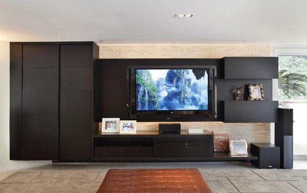 decoração preto sala de estar - cores de tintas cores de casas