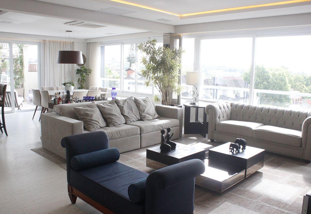 Sanca Sala De Estar U Sanca De Gesso Modelo Invertida U Sala De Tv  -> Sala De Estar Pequena Azul