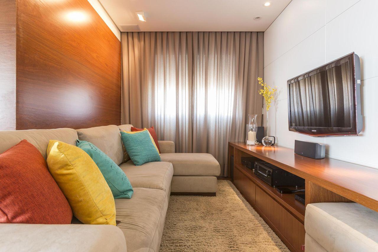 Salas De Tv Dicas De Decora O Para Home Theater De Revista Viva  -> Como Decorar Uma Sala De Estar Muito Pequena