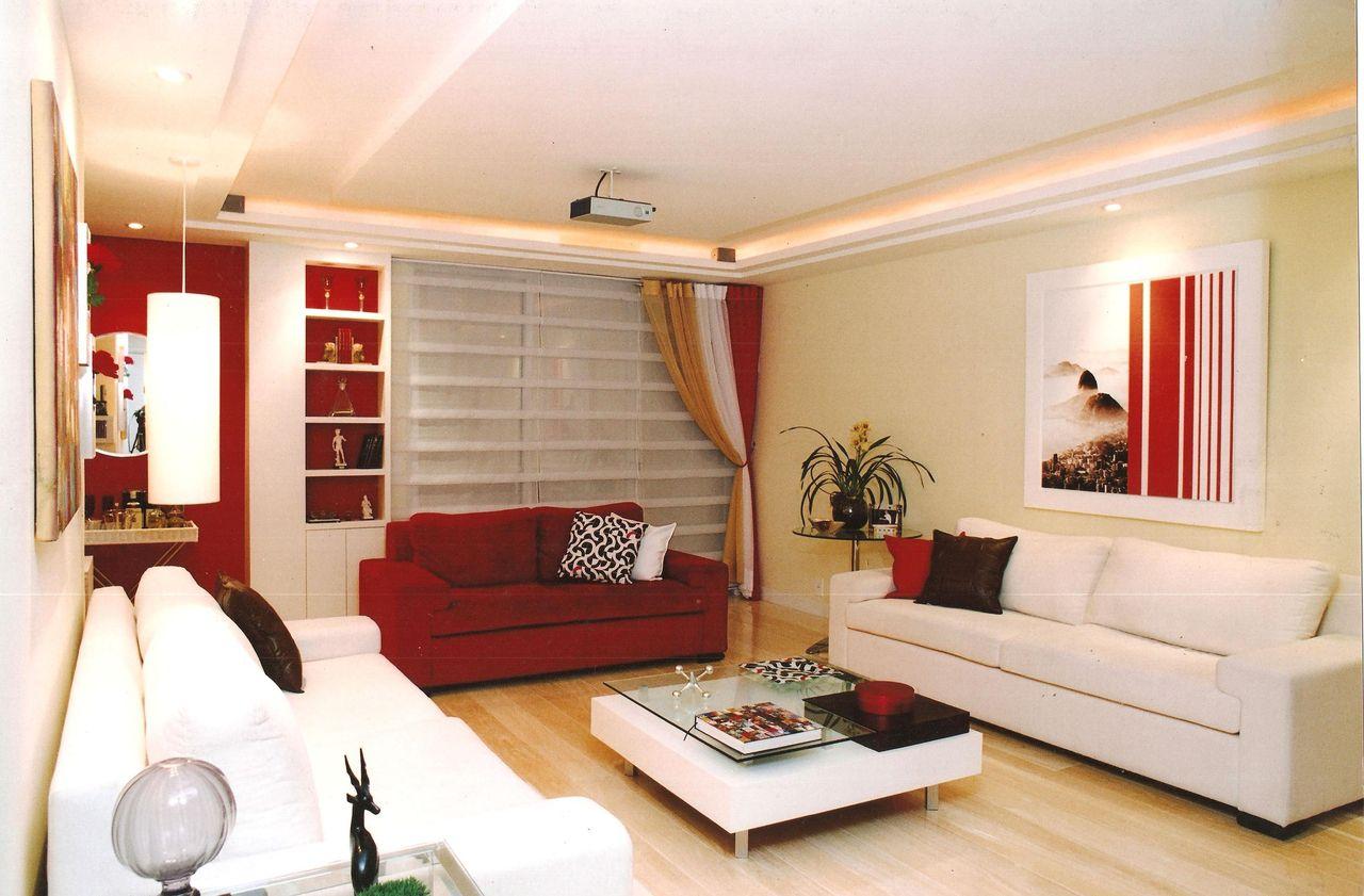 Decorao Sala Vermelho Decoracao De Sala Vermelho E Preto U  -> Papel De Parede Para Sala Com Sofa Vermelho