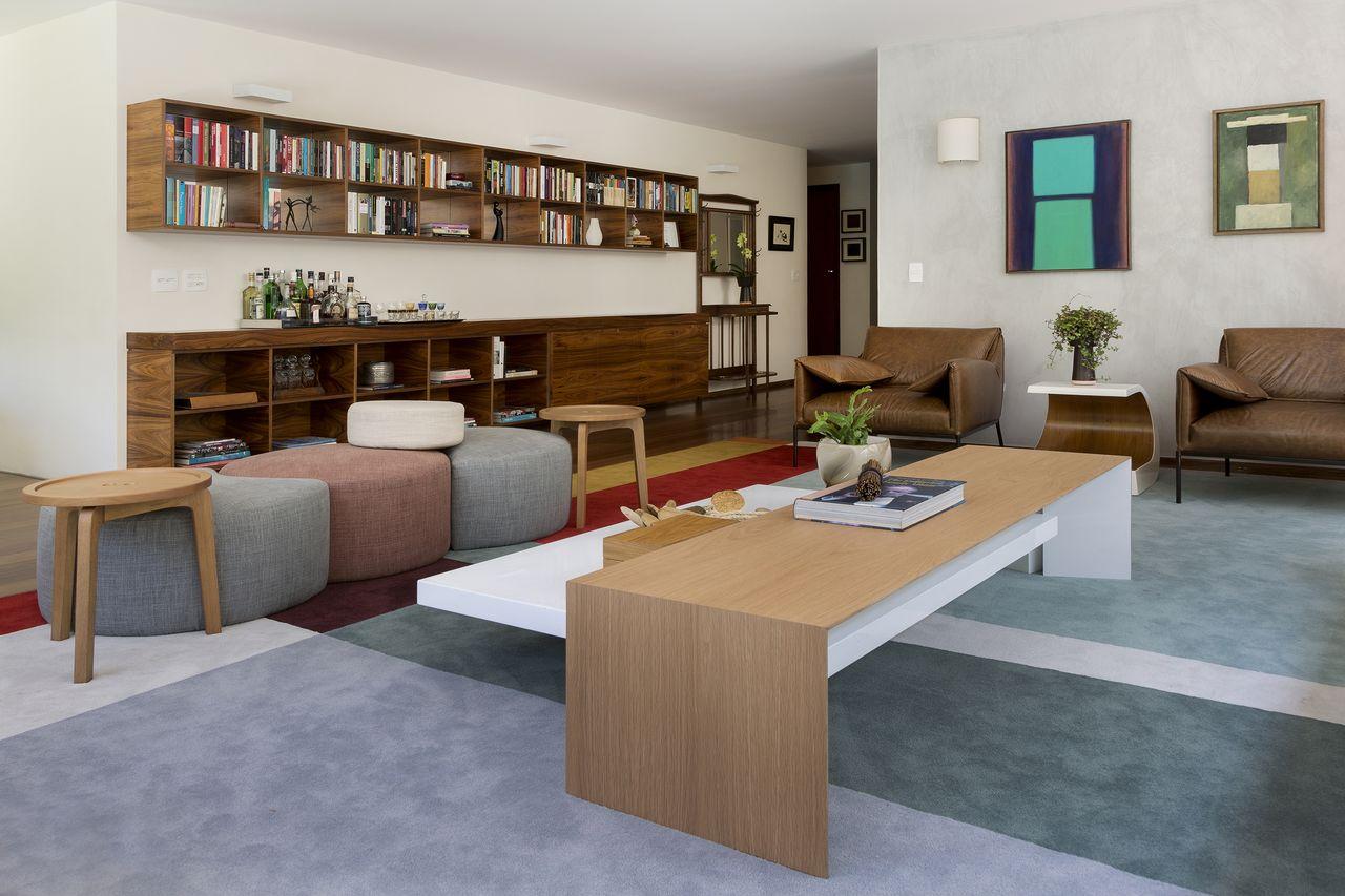 Tapete Em Tons De Verde E Mesa Sobreposta Clara De D Ptico Design De  -> Tapetes Para Sala Clara