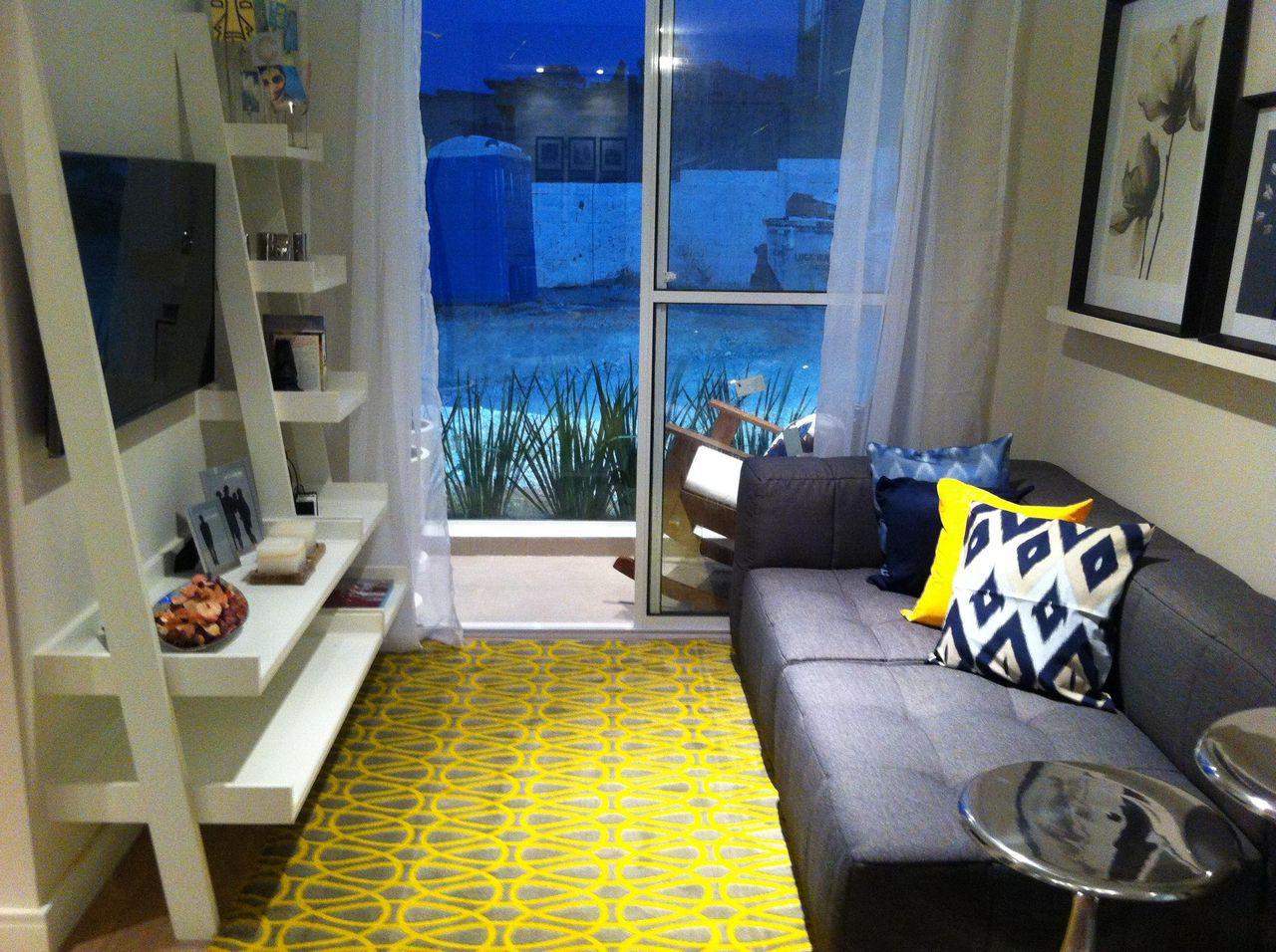 Salas Decoradas Com Amarelo Free Como Decorar Uma Sala Usando Cores  -> Decoracao De Sala Pequena Vermelha E Amarela