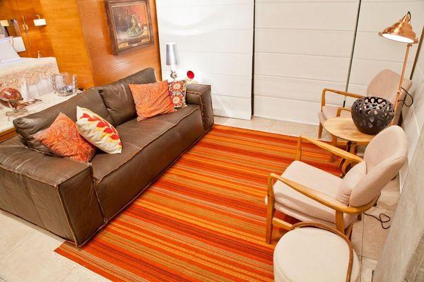 cores de casas com decoração laranja - cores de tintas