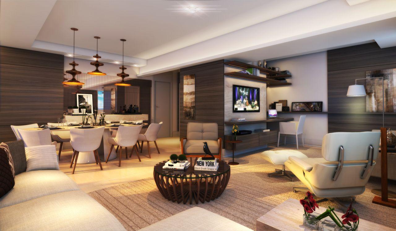 Decoraao De Sala De Jantar Integrada Com Sala De Estar Cozinha  -> Sala De Tv Estar