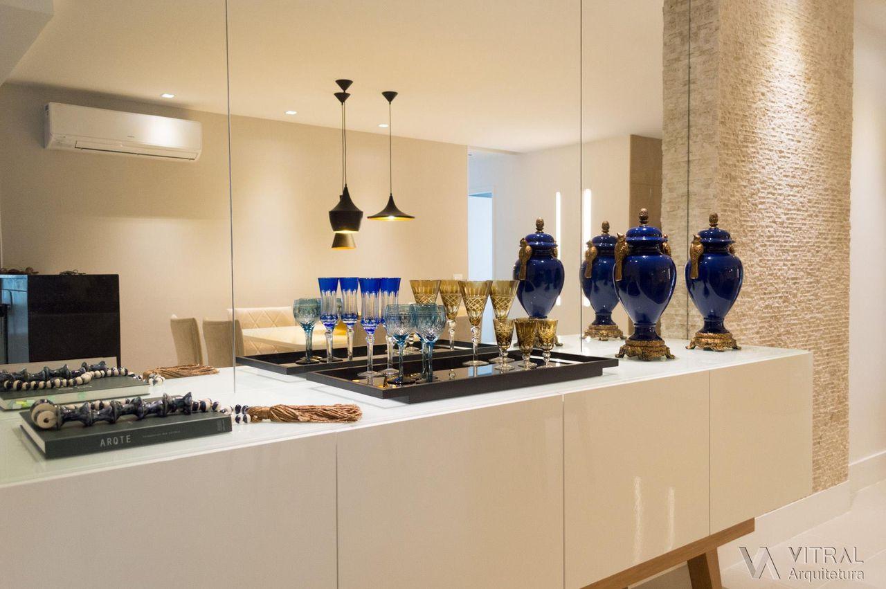 Buffet Projetado Sob Medida De Vitral Arquitetura 123398 No Viva  -> Sala Simples Projetada