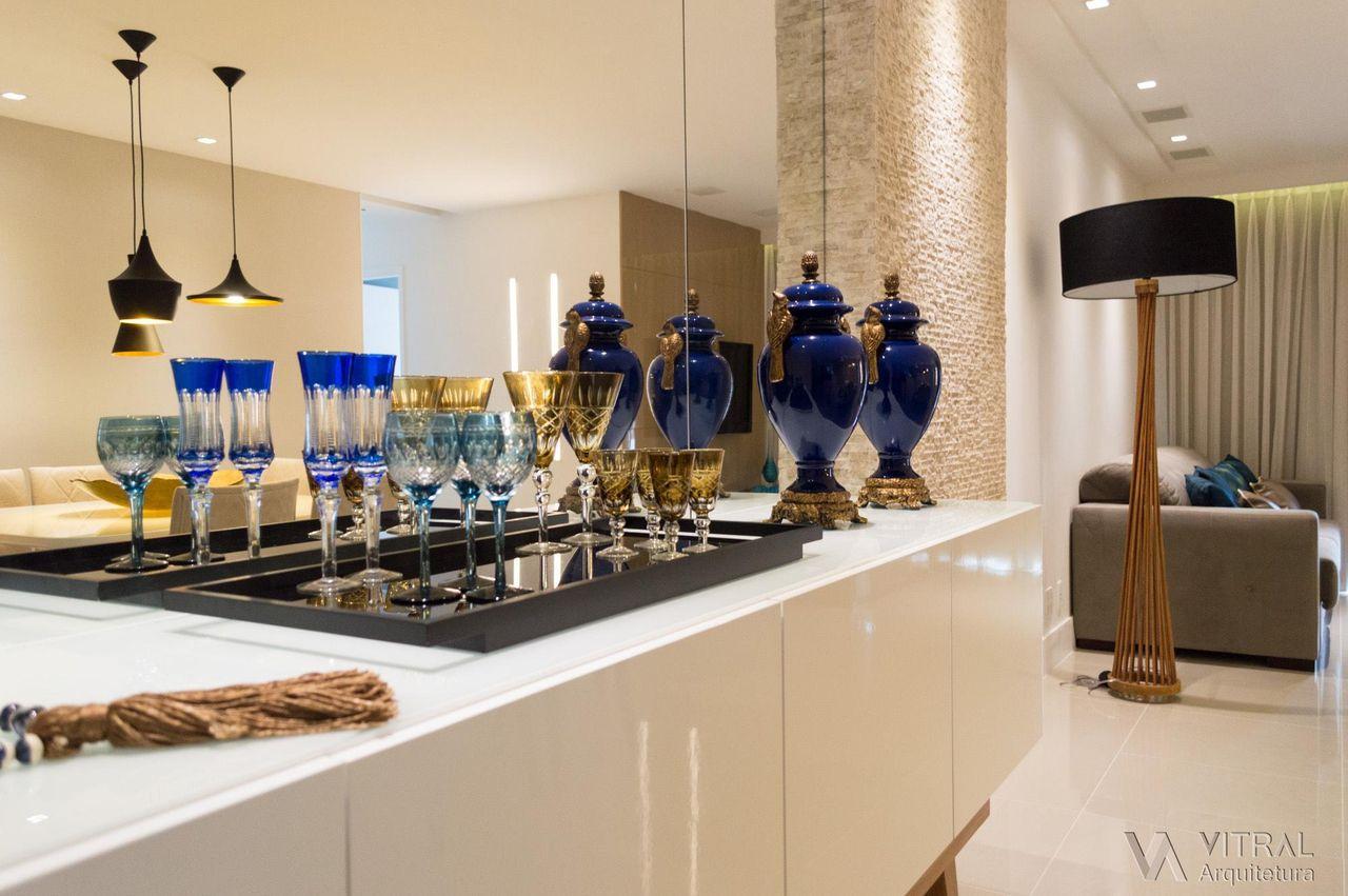 Buffet Projetado Sob Medida De Vitral Arquitetura 123399 No Viva  -> Sala Simples Projetada