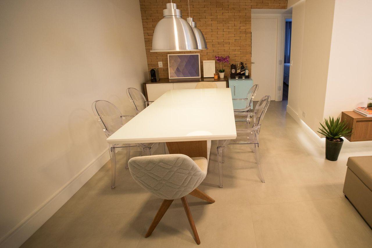 Cadeira De Acr Lico Transparente De Tria Arquitetura 83205 No Viva  -> Cadeiras Para Sala De Jantar Acrilico