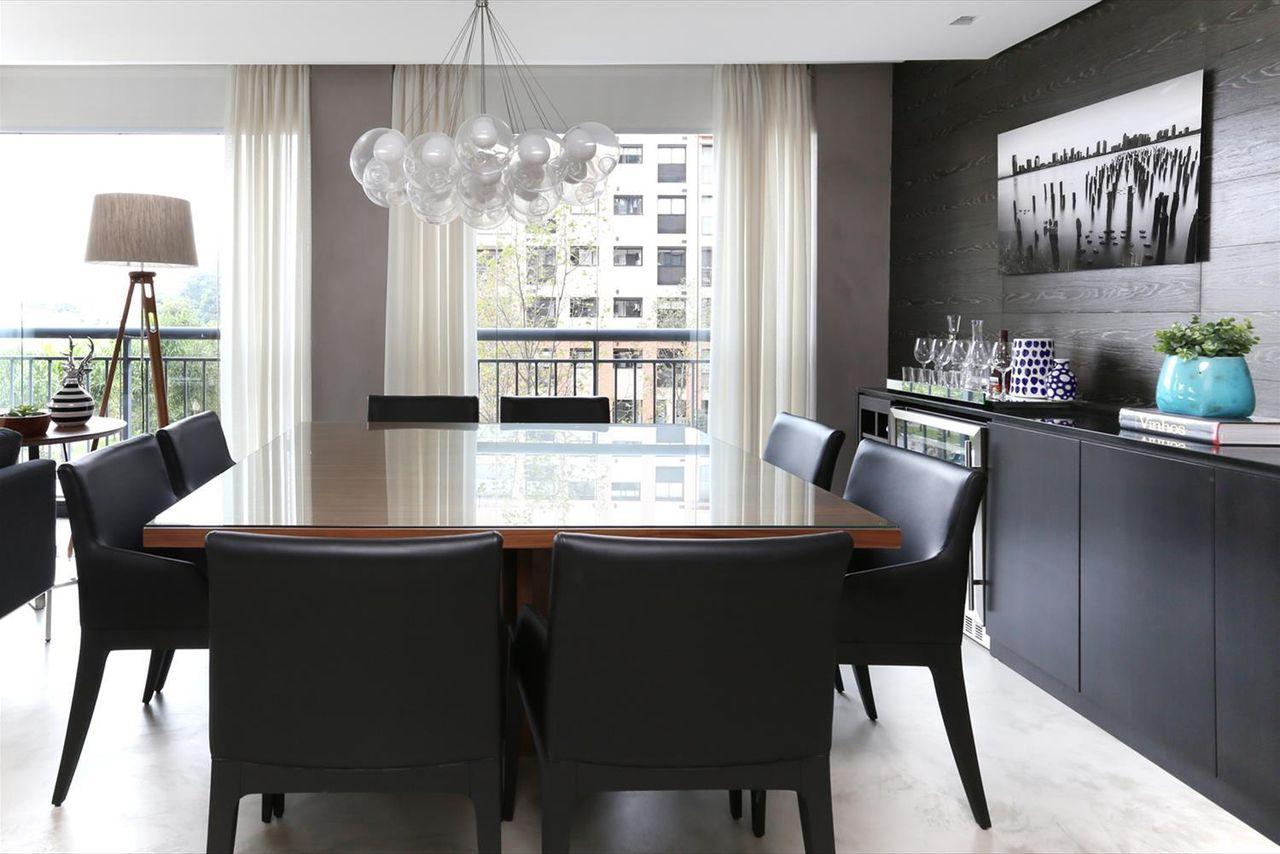 Sala De Jantar Com Cadeira Acabamento De Couro Pre De Hildebrand  -> Acabamento Sala De Jantar