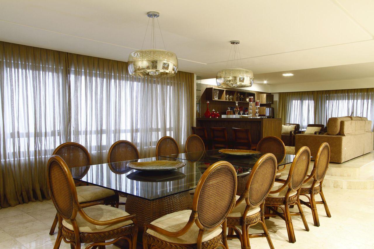 Sala De Jantar Com Cortina Grande De C Lia Beatriz 103135 No Viva