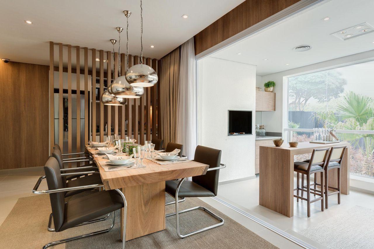 Sala De Jantar Com Divis Ria De Madeira De Carlos Rossi 17948 No  ~ Divisoria Para Cozinha E Sala