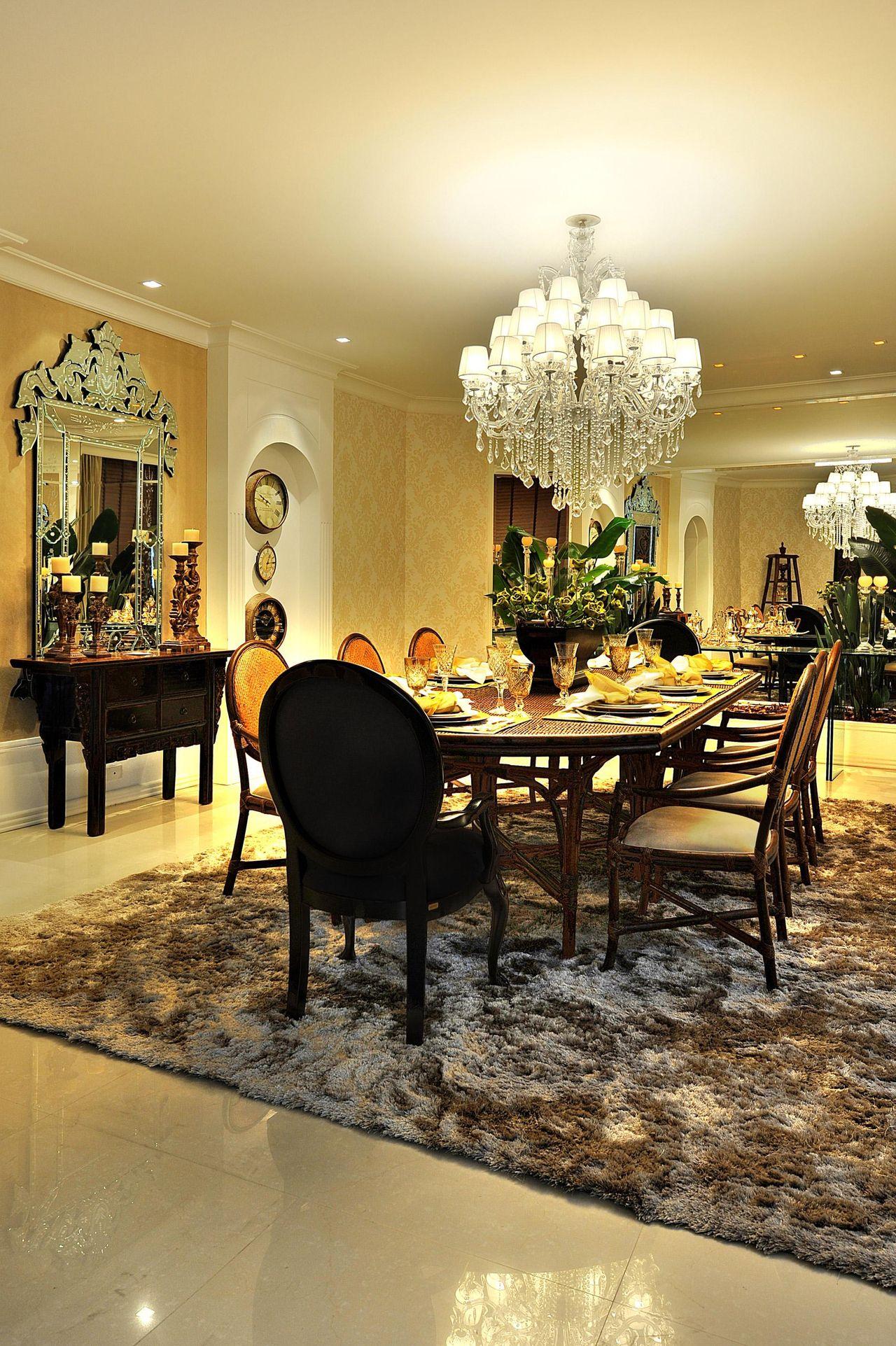 Sala De Jantar Com Espelho E Aparador De Bender Arquitetura 83088  -> Sala De Jantar Com Espelho E Aparador