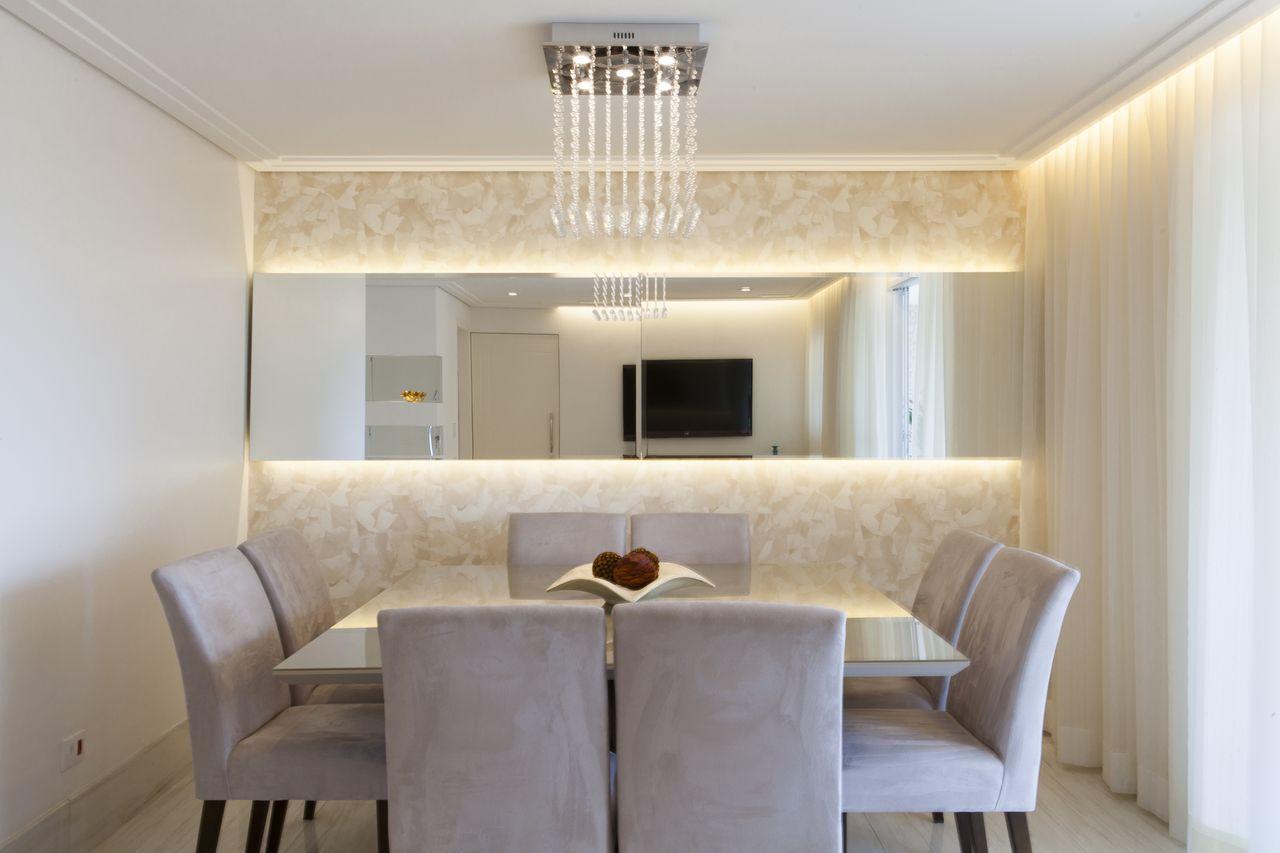 Espelho De Sala De Jantar Espelho Decorativo Para Sala De Jantar  -> Sala De Jantar Com Espelho E Aparador