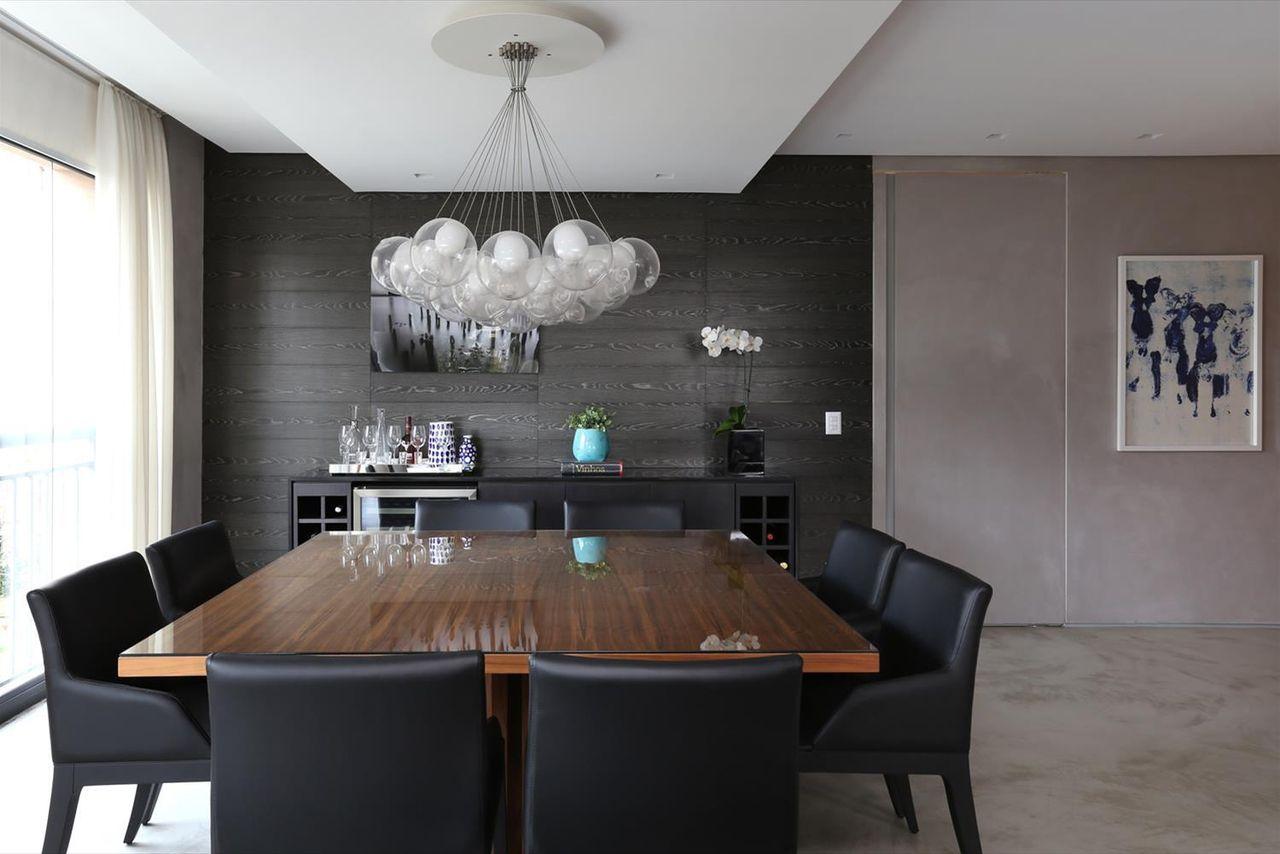 Sala De Jantar Com Mesa De Madeira E Cadeira Preta De Hildebrand Silva Arquitetura 62764 No