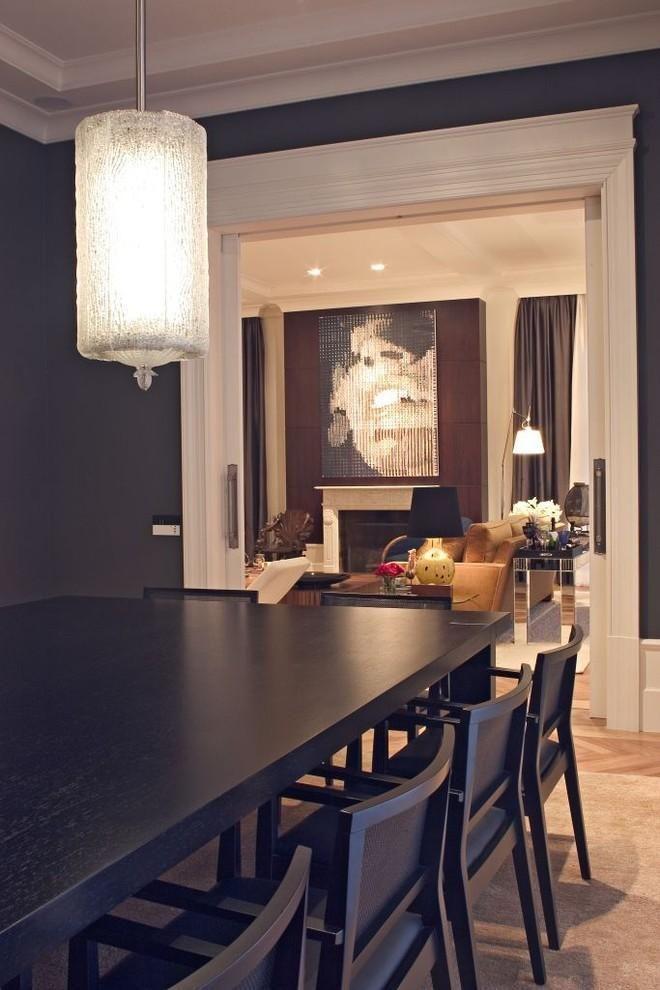 Cadeiras Para Sala De Jantar Preta ~ Sala de jantar com mesa e cadeira Preta de Studio Marcelo Brito
