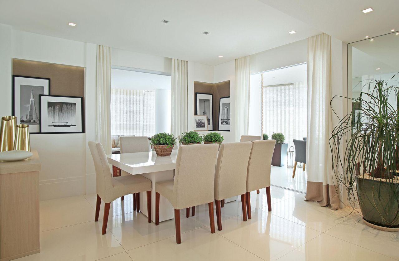 Sala De Jantar Mesa Quadrada ~ decoração sala de jantar sala de jantar com mesa quadrada de madeira
