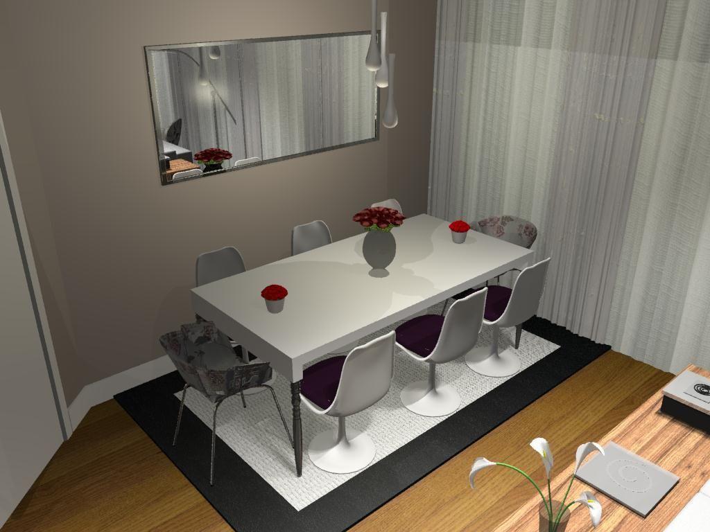 Sala De Jantar Com Mesa Quadrada E Cadeira Branca De Jonathan  -> Sala Quadrada Planejada