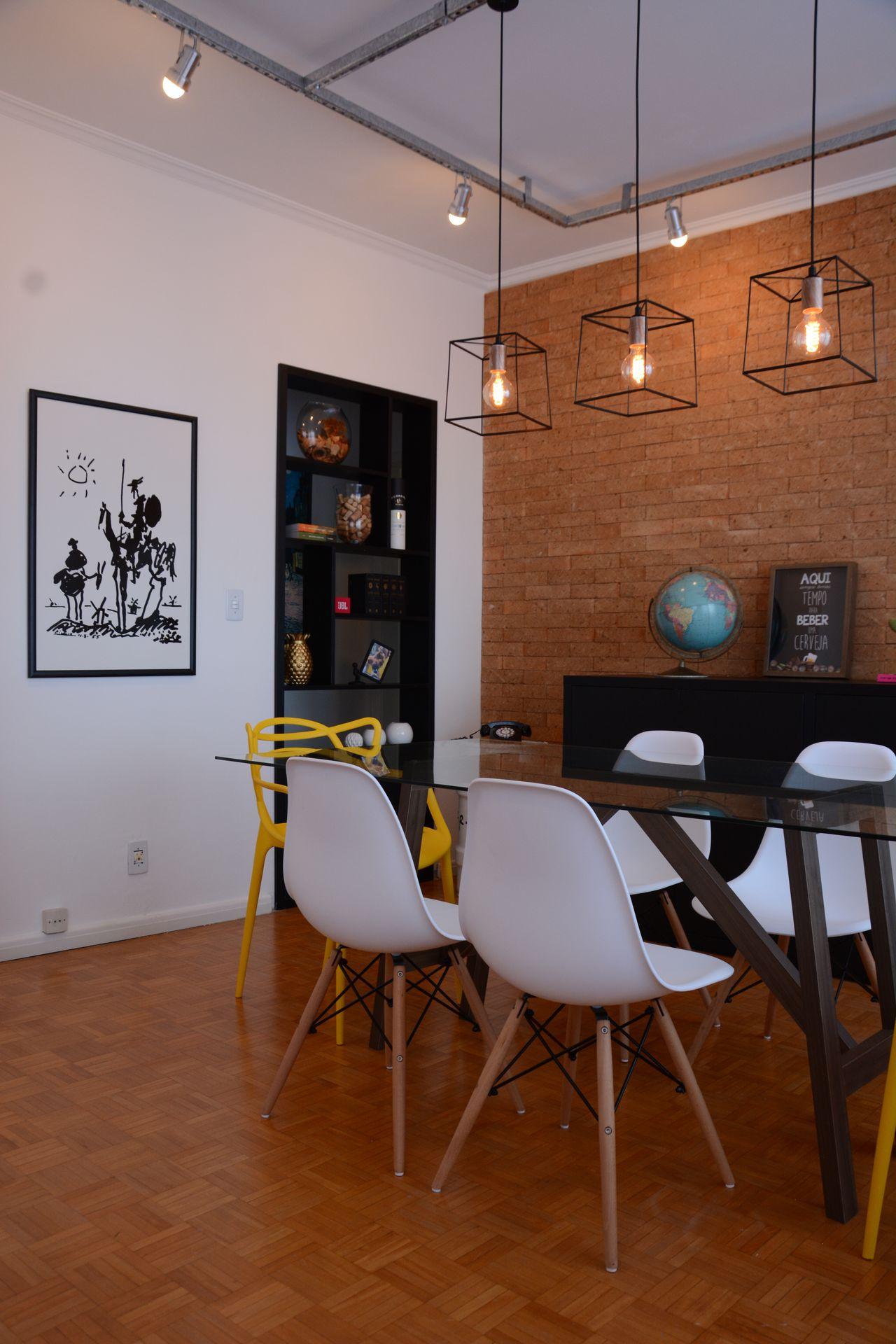 Sala De Jantar Moderna Com Cadeira Eames Branca De Nathalia Bilibio