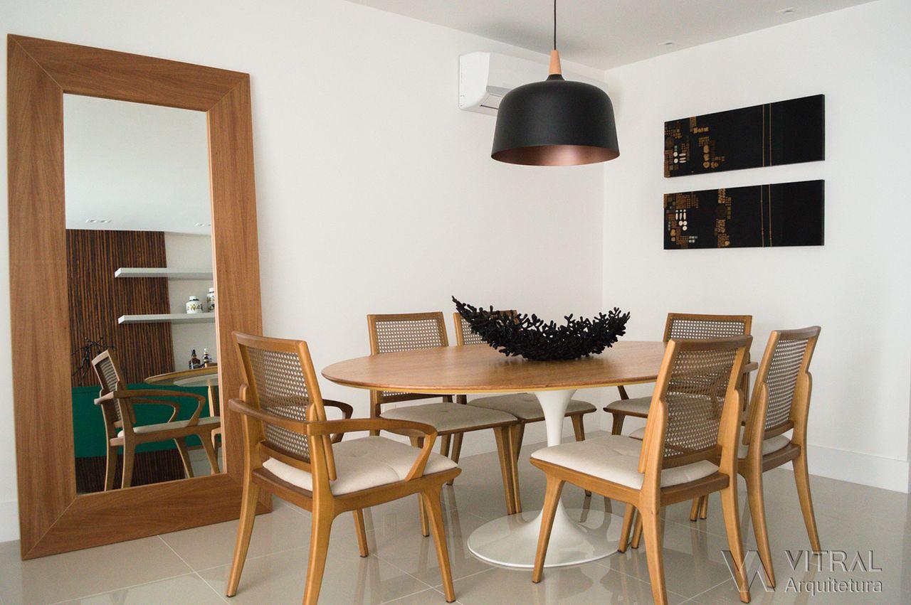 Decorao Sala De Jantar Com Espelho Annie Simples N Mai Que Quis  -> Sala De Jantar Com Painel De Madeira E Espelho