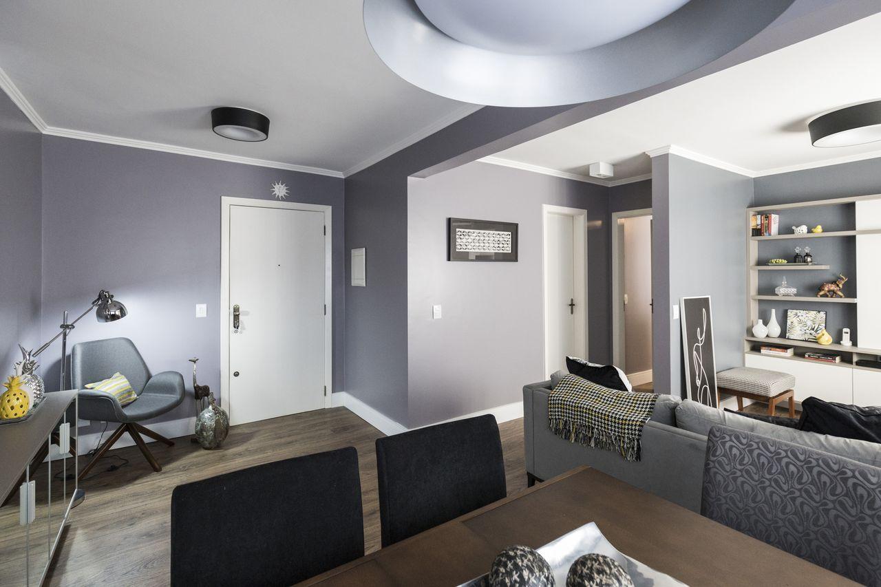 Sala tom cinza inspira o de design para - Tom interiores ...