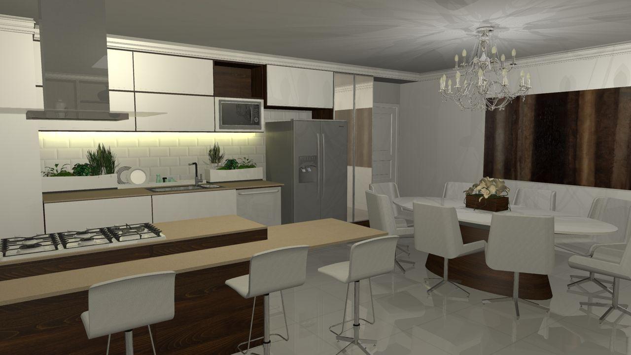 Sala Integrada Com Cozinha Americana Cozinhas Integradas Com As