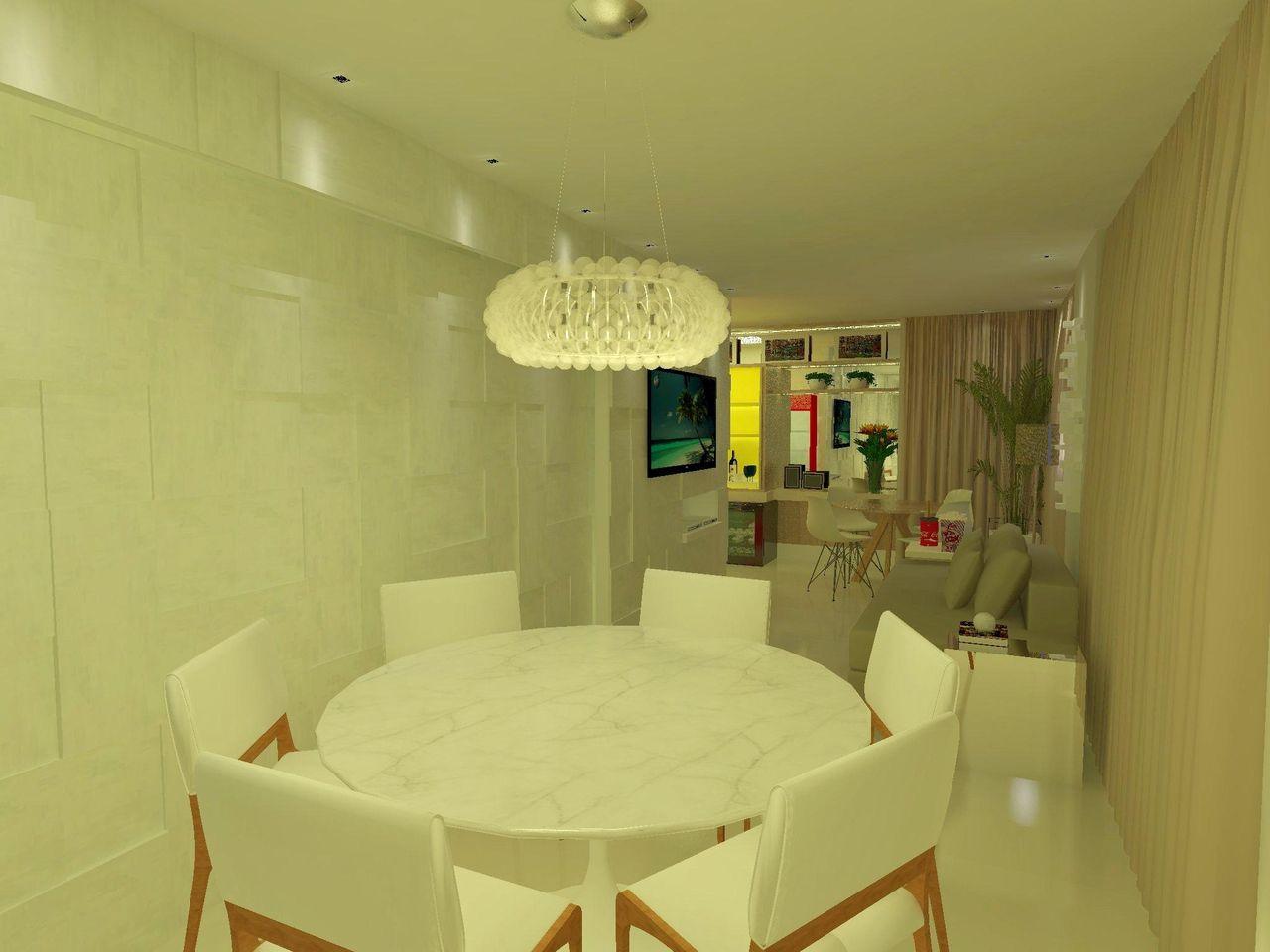Sala De Jantar Mesa Redonda Branca ~ Decoração Sala de Jantar Mesa Redonda Branca