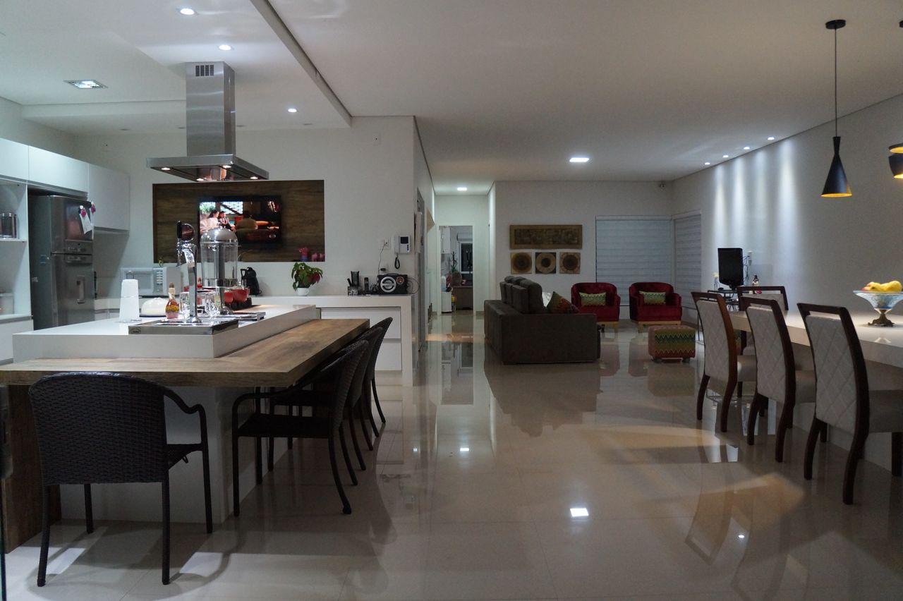 Jantar E Cozinha Gourmet Integradas De Carin Cordeiro Gon Alves