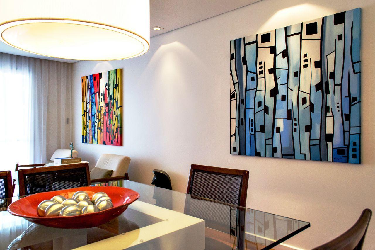 Sala Com Quadros Coloridos Integrando Os Ambientes De Rawi  -> Fotos De Ambientes