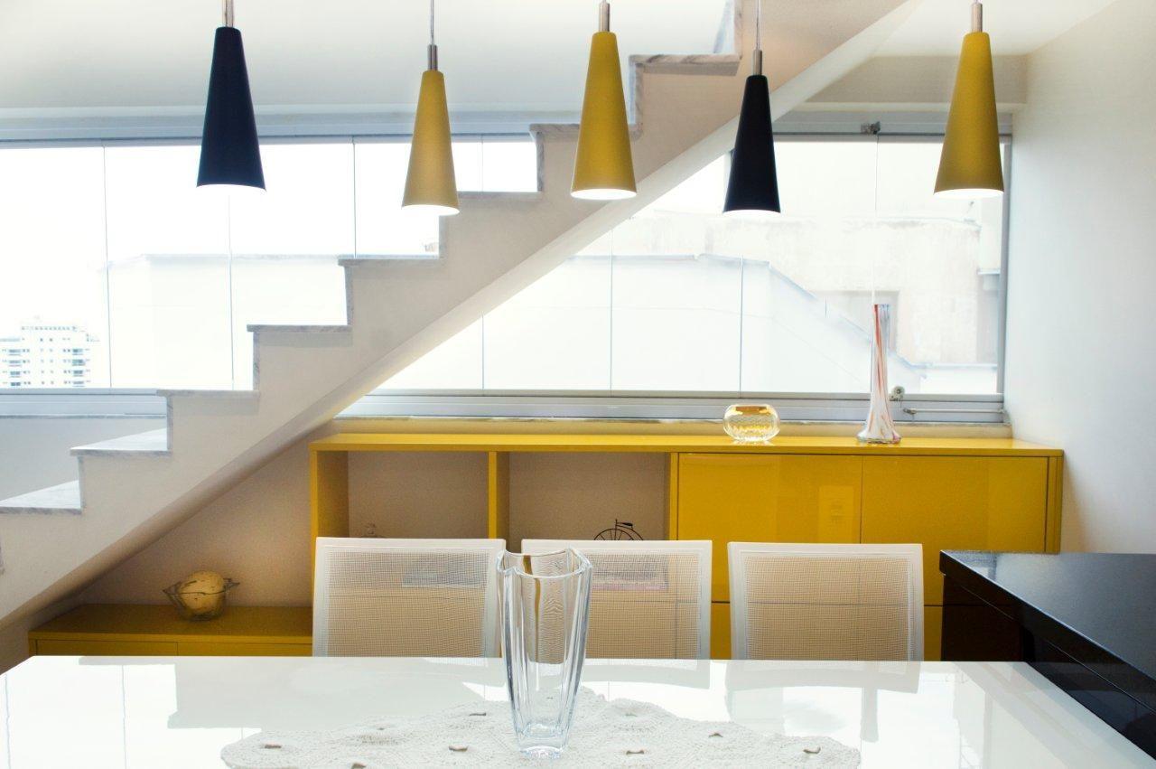 Aparador Em Baixo Da Escada ~ Decorao De Sala De Jantar Moderna Dining Room Modern Inox