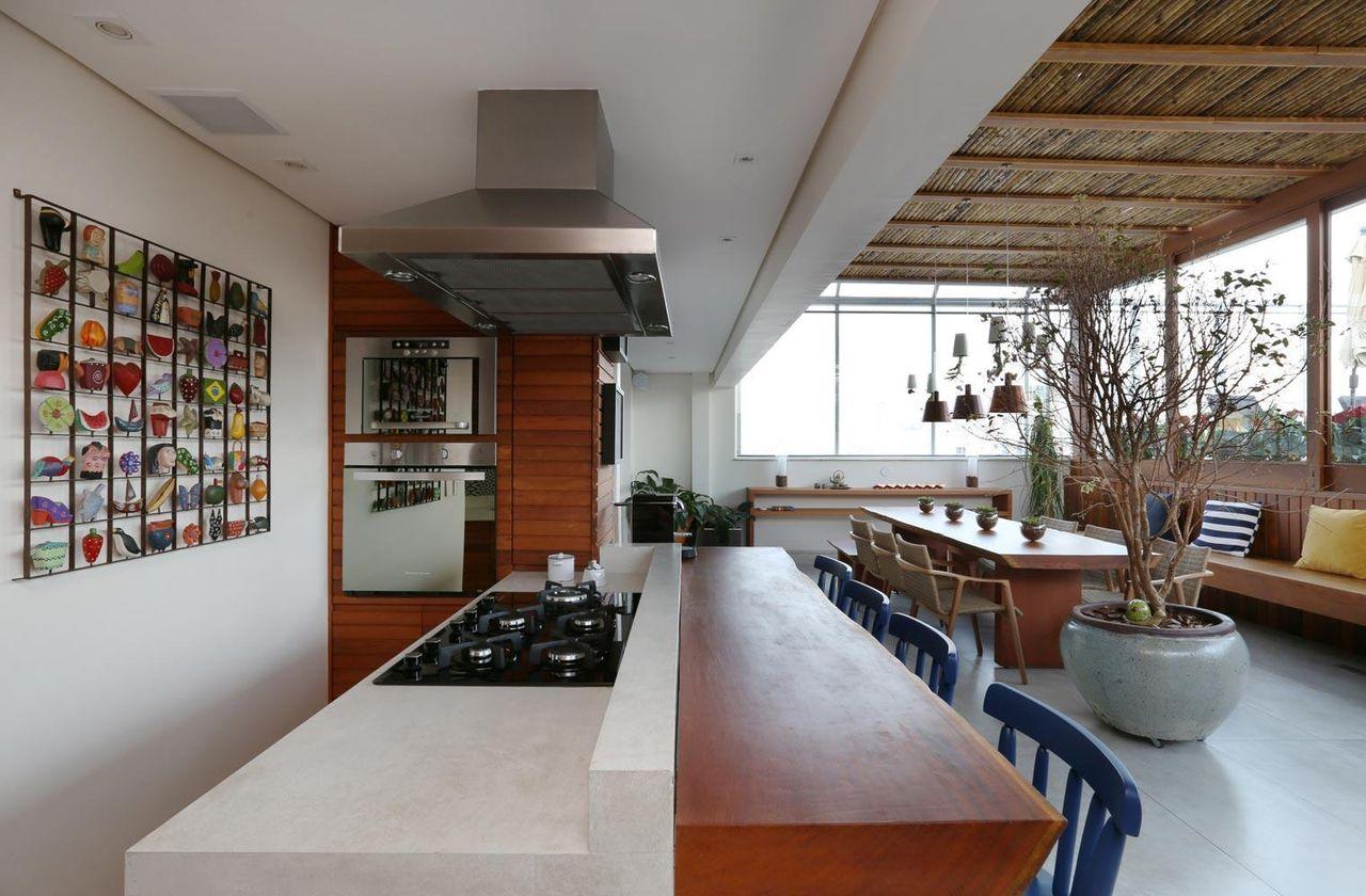 Varanda Gourmet Com Cozinha Americana De Studio Novak 82896 No