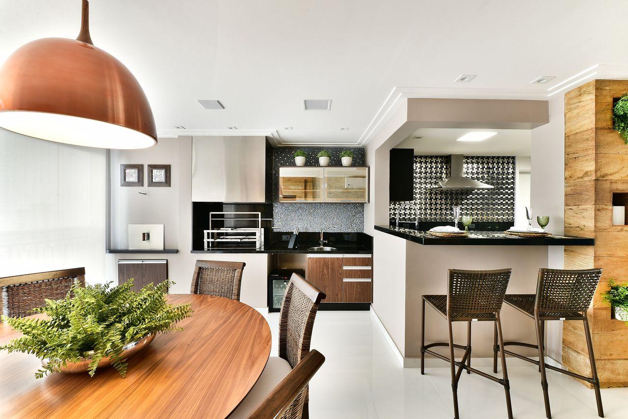 Cozinha Integrada Com Varanda Resimden Com