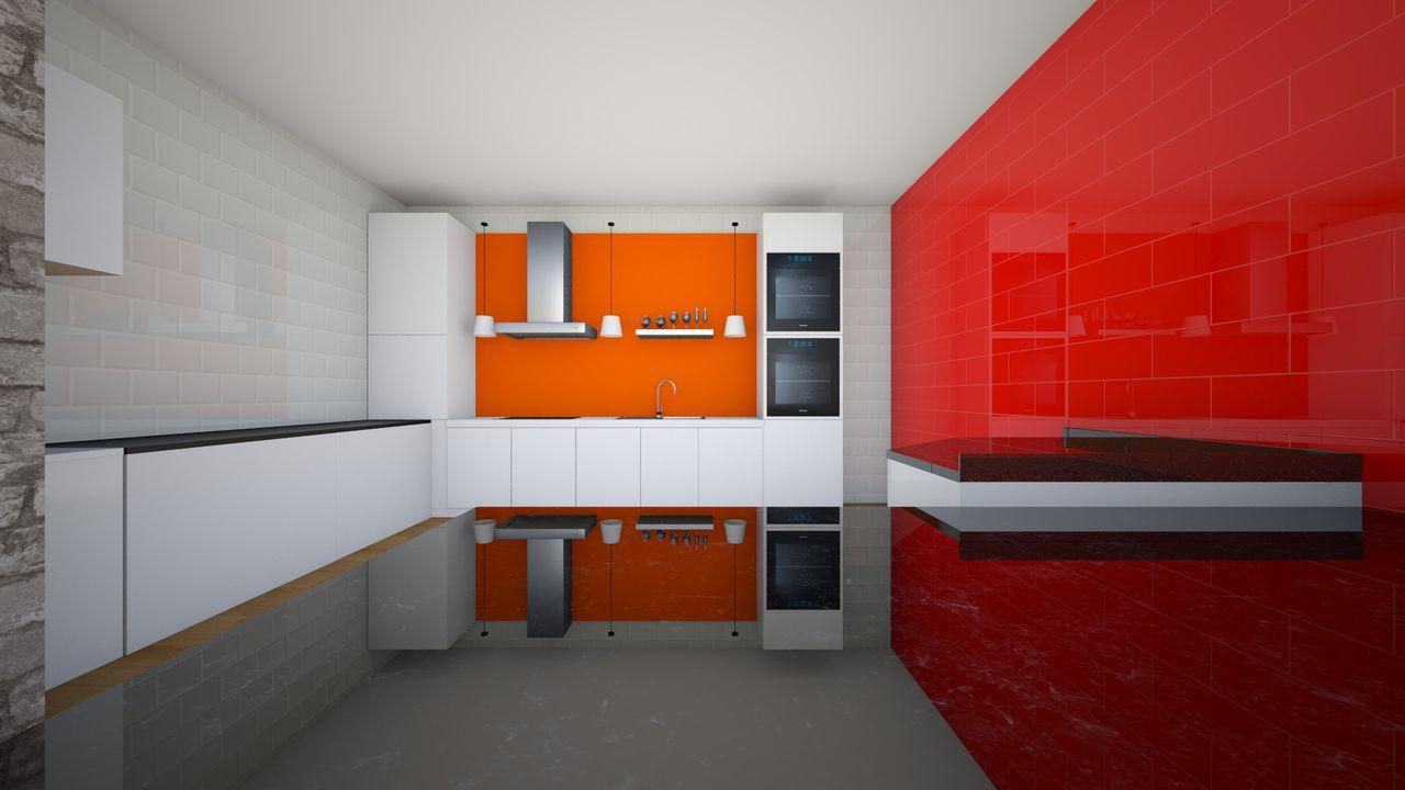 Cozinha Vermelha Com M Veis Brancos De Virginia Guadalupe 135331