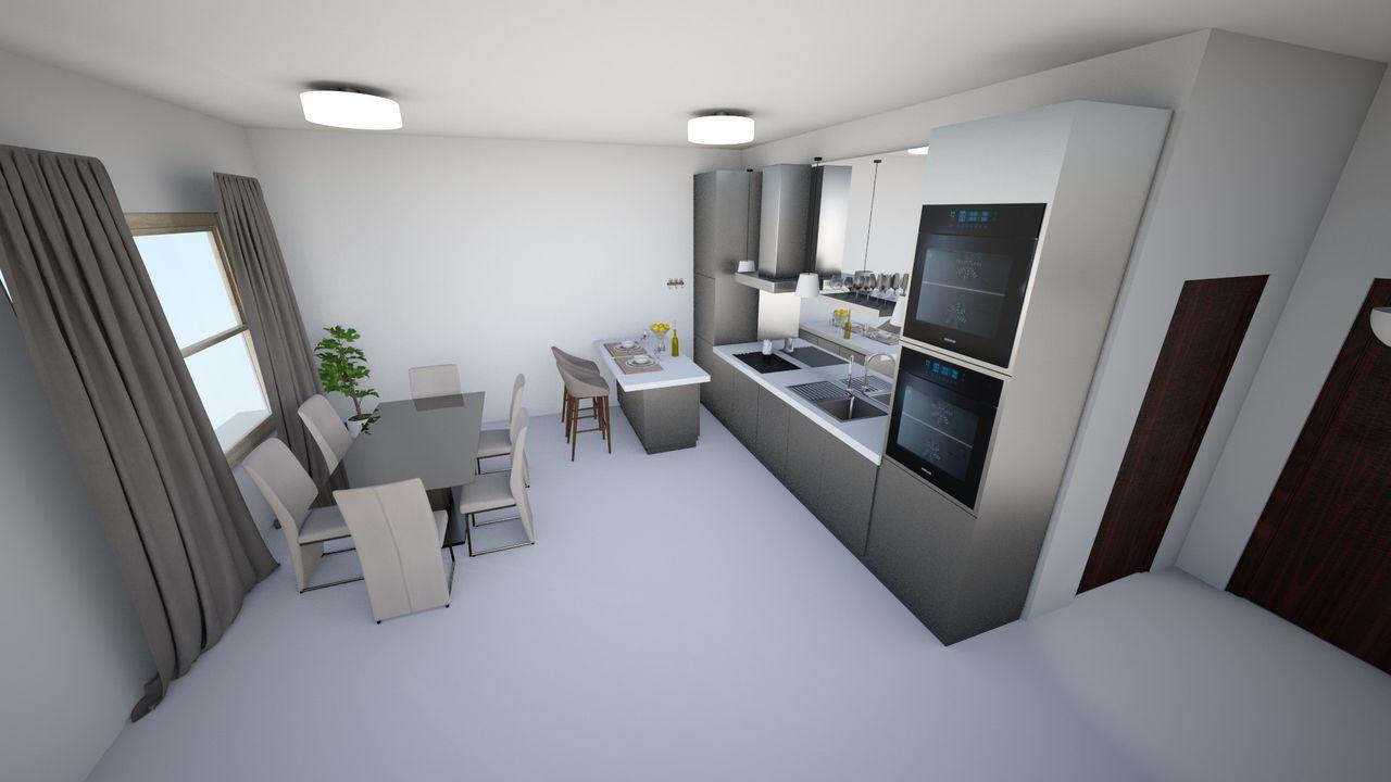 Cozinha Com Ilha Integrada A Sala De Jantar De Alice Amaro 135247