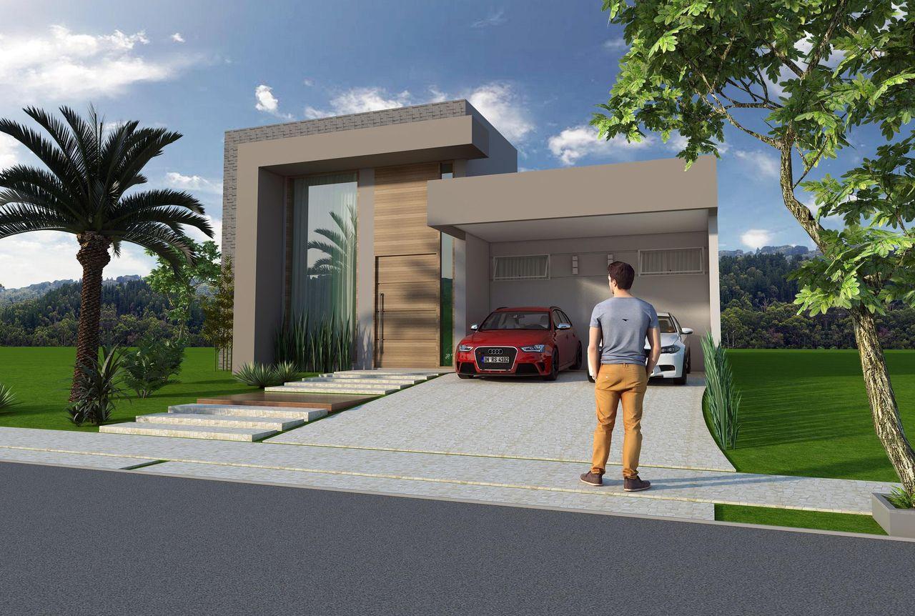 Fachada casa modernas fachada de casa moderna estilo for Fachada de casas modernas