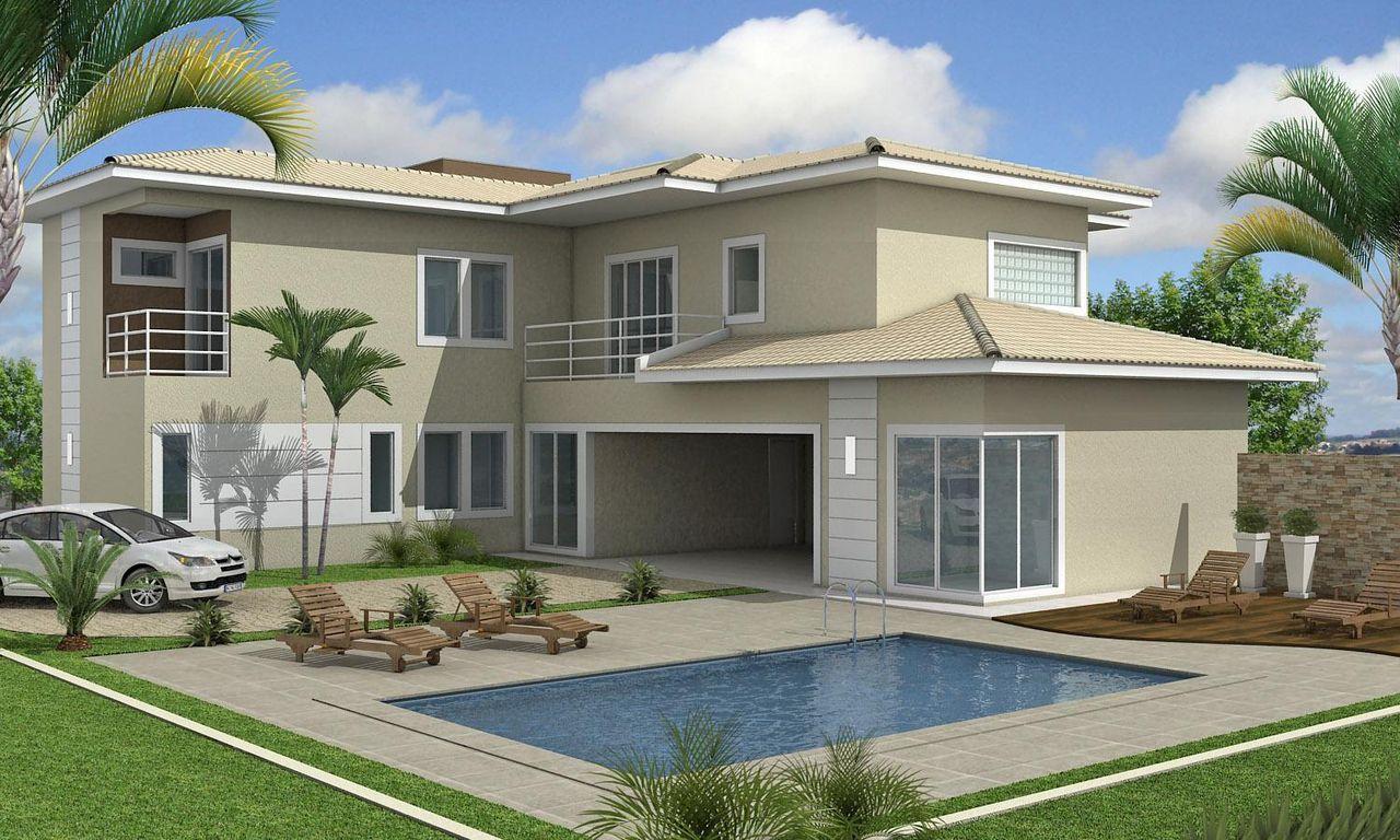 Cores para fachadas papoula e branco fachadas de casa for Pinturas bonitas para casas
