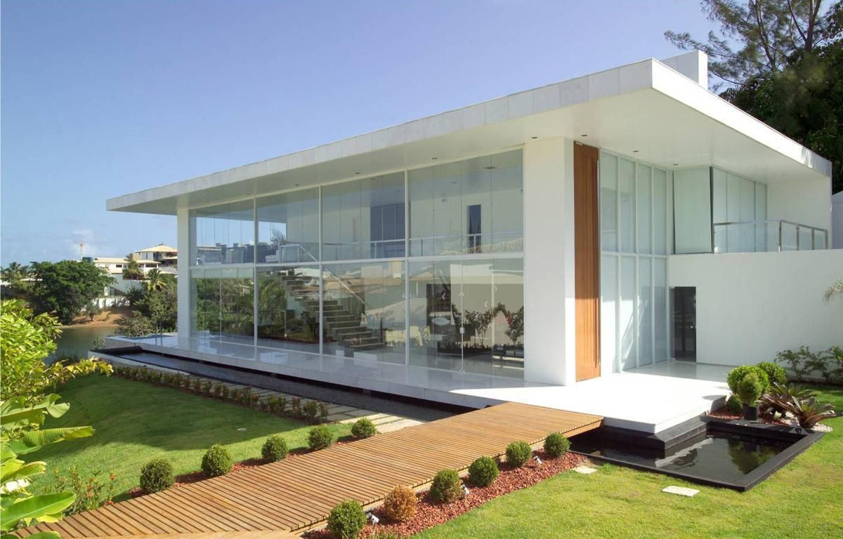 Casas Bonitas 40 Modelos Incr Veis Modernos E Inspiradores -> Fotos De Paredes Bonitas