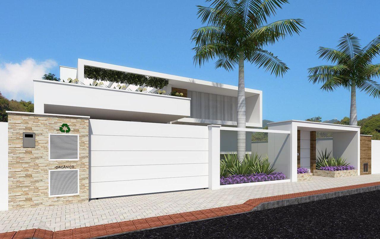 Portoes de casas fotos escolha o porto ideal para sua for Casa moderna 2019