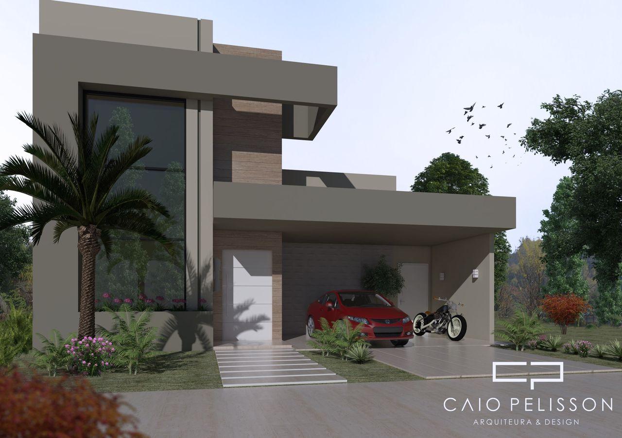 perfect fachadas de casas fachada de casa moderna bege with casas modernas fachadas - Fachadas Modernas De Casas