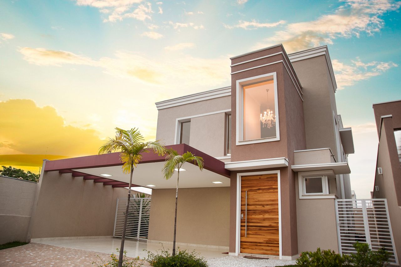 Fachada casa moderna latest populares fachadas casas for Fachada de casas