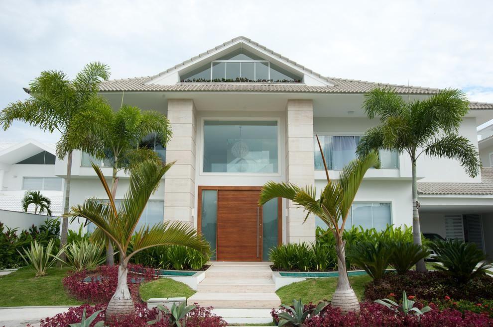 Fachada de casa com jardim qy86 ivango - Entradas de casas modernas ...