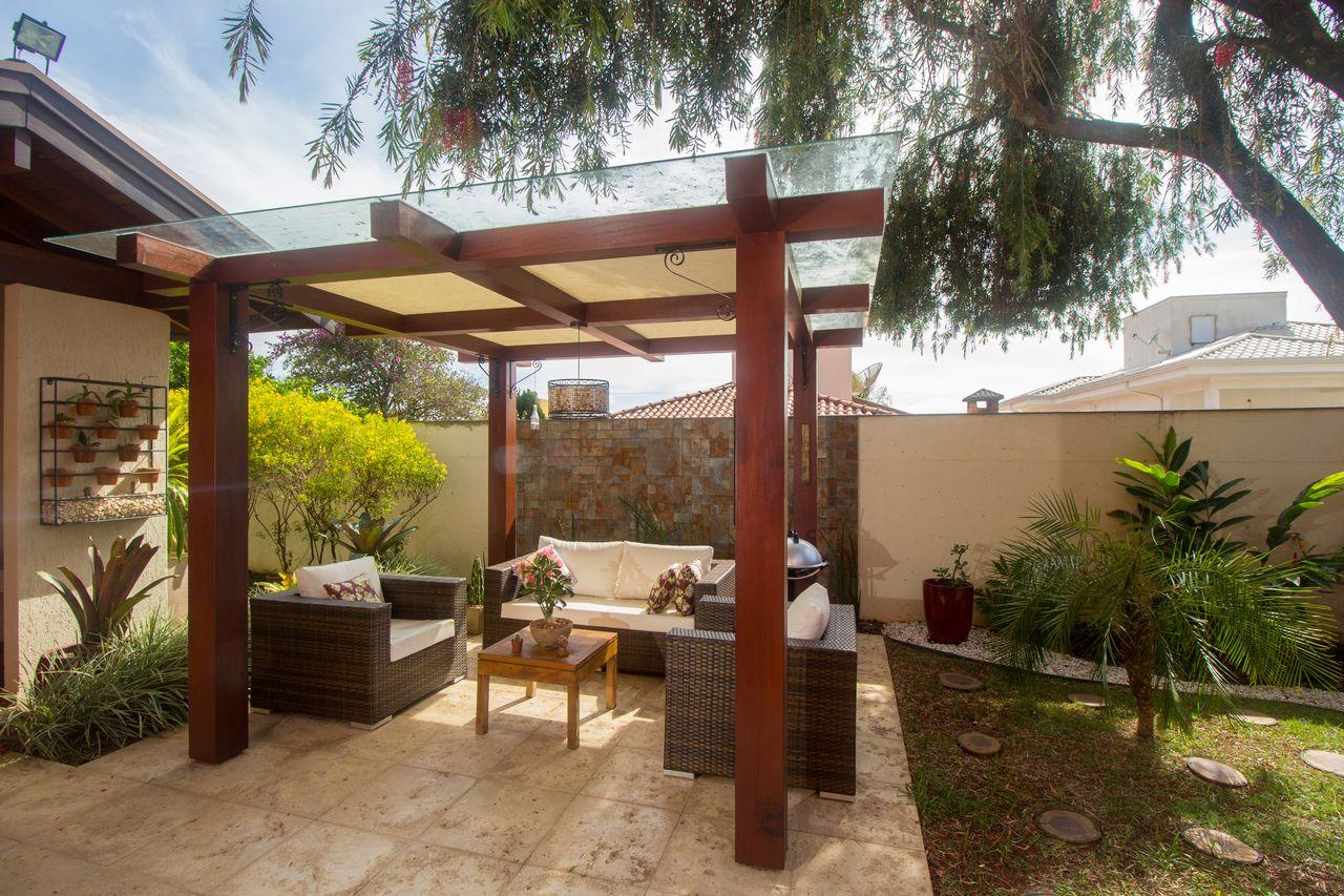 Jardim Com Jogo De Sofa Em Ratan De Sa Engenharia E Arquitetura