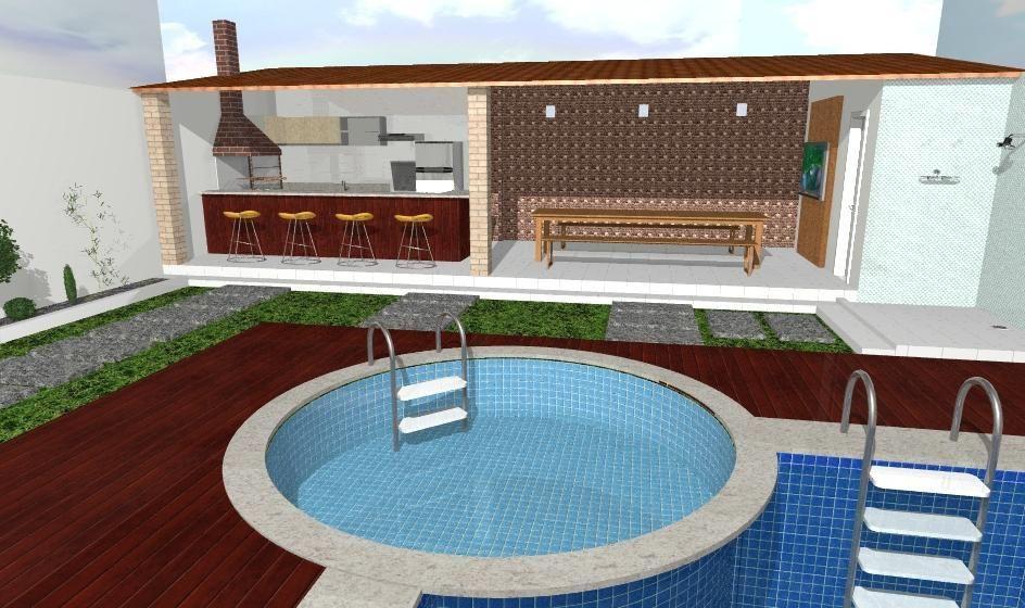 Piscina com deck de madeira de suzane do nascimento sales mendo 49585 no viva decora - Piscina a sale ...